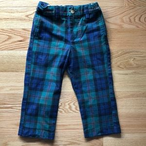 Toddler boy plaid trousers